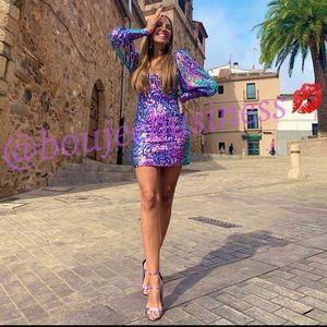 ZARA Limited Edition Sequin Mini Dress
